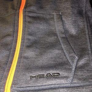 Head Shirts & Tops - Head Youth Full Zip Hoodie, Gray Heather / Orange